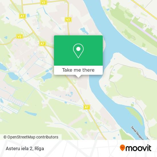 Asteru iela 2 map
