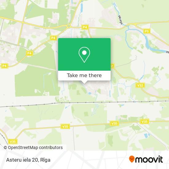 Asteru iela 20 map