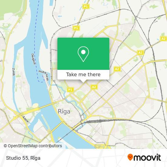 Studio 55 map