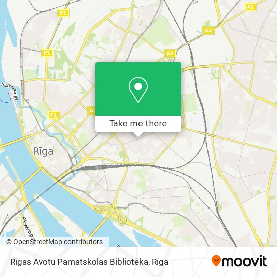 Rīgas Avotu Pamatskolas Bibliotēka map