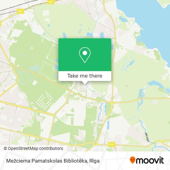 Mežciema Pamatskolas Bibliotēka map