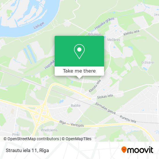 Strautu iela 11 map