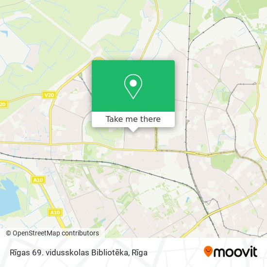 Rīgas 69. vidusskolas Bibliotēka map