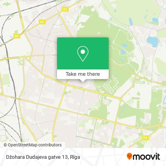 Džohara Dudajeva gatve 13 map