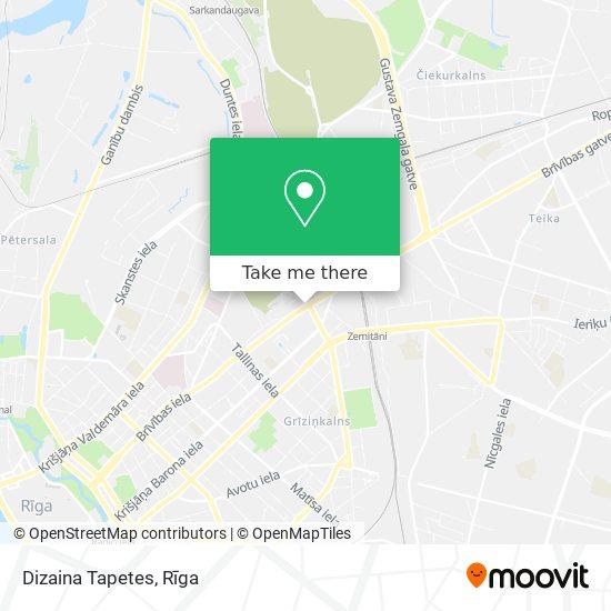 Dizaina Tapetes map