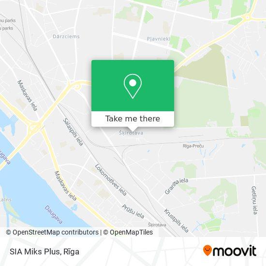 SIA Miks Plus map