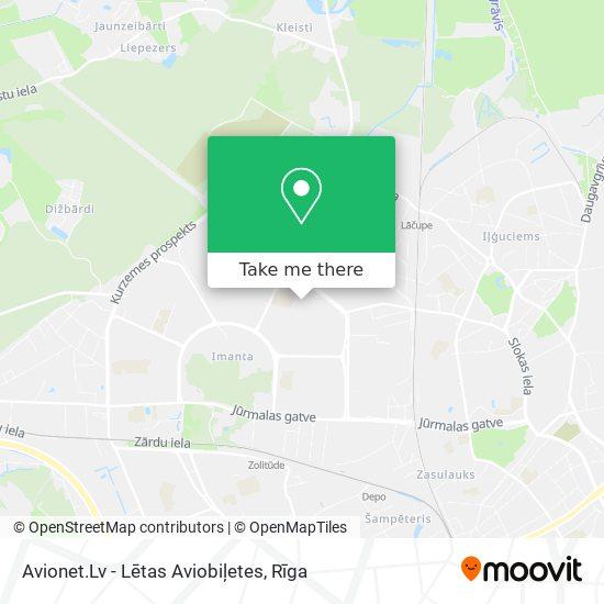 Avionet.Lv - Lētas Aviobiļetes map