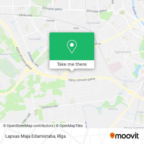 Lapsas Maja Edamistaba map