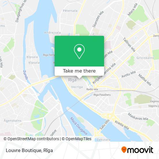 Louvre Boutique map