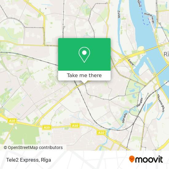 Tele2 Express map