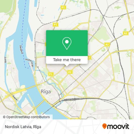 Nordisk Latvia map