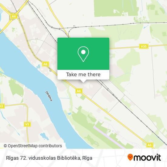 Rīgas 72. vidusskolas Bibliotēka map