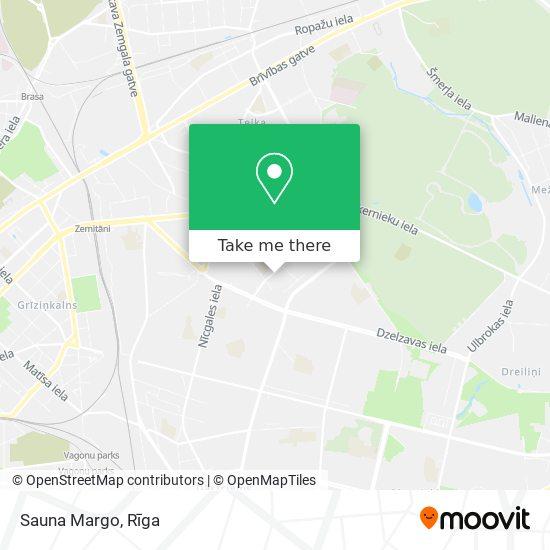 Sauna Margo map
