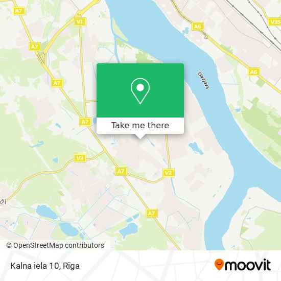 Kalna iela 10 map
