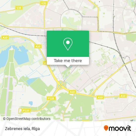 Zebrenes iela map