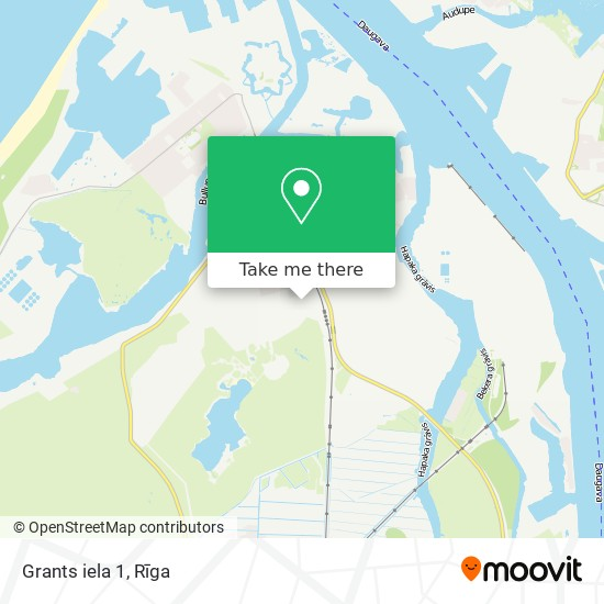 Grants iela 1 map
