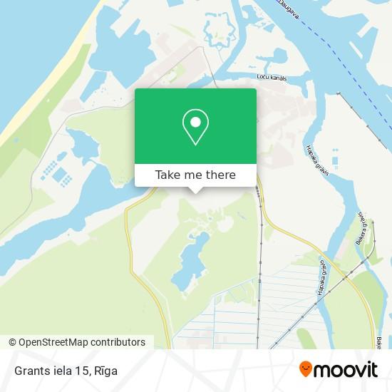 Grants iela 15 map