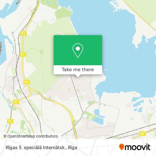 Rīgas 5. speciālā Internātsk. map