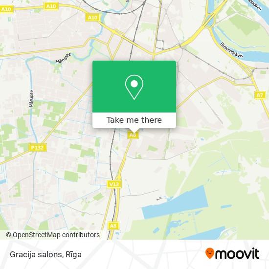 Gracija salons map