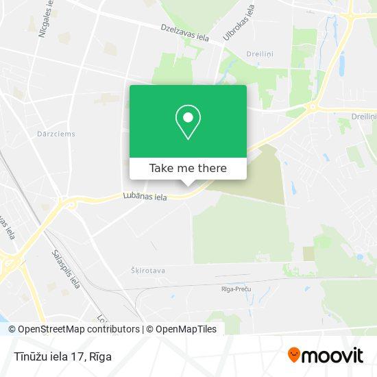 Tīnūžu iela 17 map