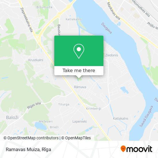 Ramavas Muiza map