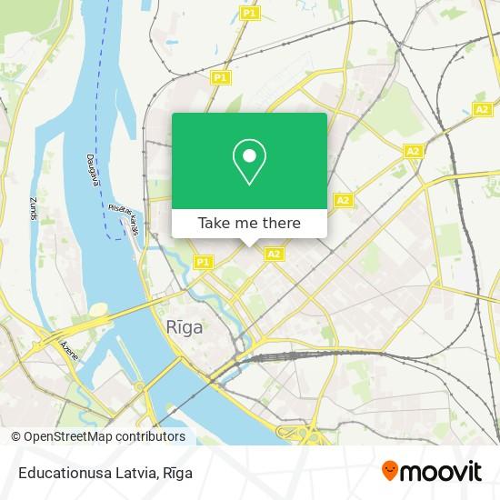 Educationusa Latvia map