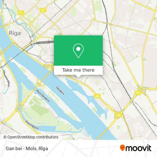 Gan bei - Mols map