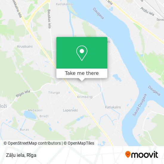 Zāļu iela map