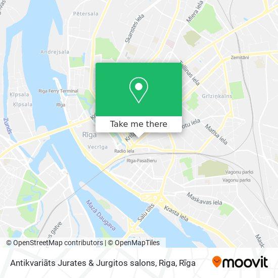 Antikvariāts Jurates & Jurgitos salons, Riga map