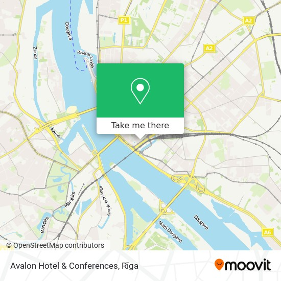 Avalon Hotel & Conferences map