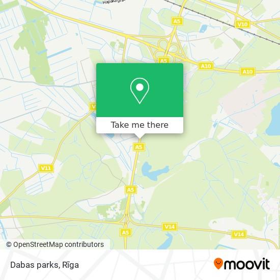 Dabas parks map