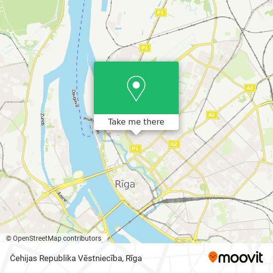 Čehijas Republika Vēstniecība map
