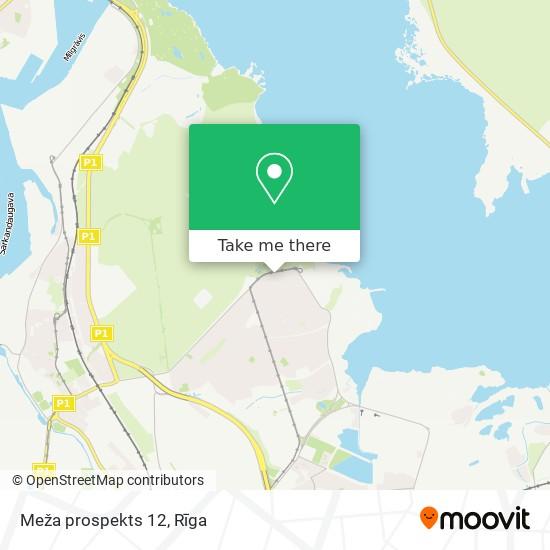 Meža prospekts 12 map