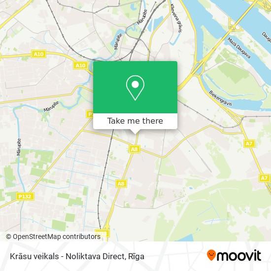 Krāsu veikals - Noliktava Direct map