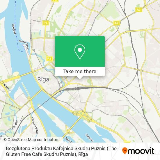 Bezglutena Produktu Kafejnica Skudru Puznis (The Gluten Free Cafe Skudru Puznis) map