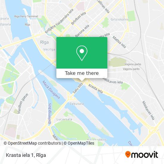 Krasta iela 1 map