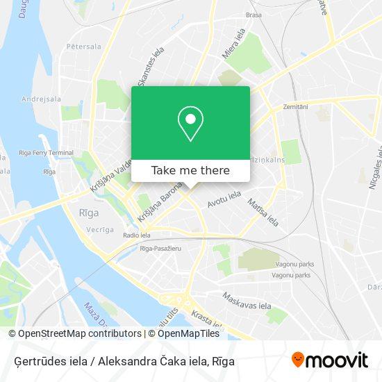 Ģertrūdes iela / Aleksandra Čaka iela map