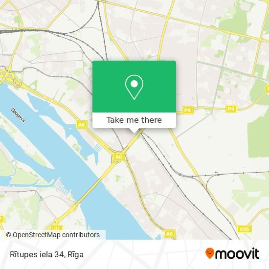 Rītupes iela 34 map