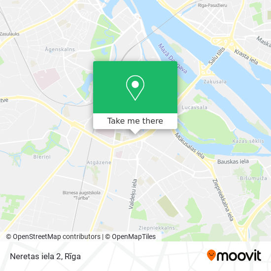 Neretas iela 2 map