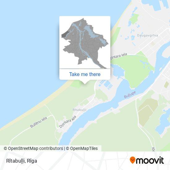 Rītabuļļi map