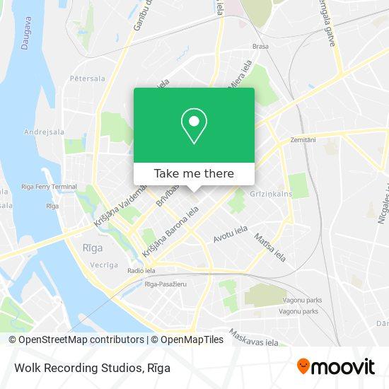Wolk Recording Studios map