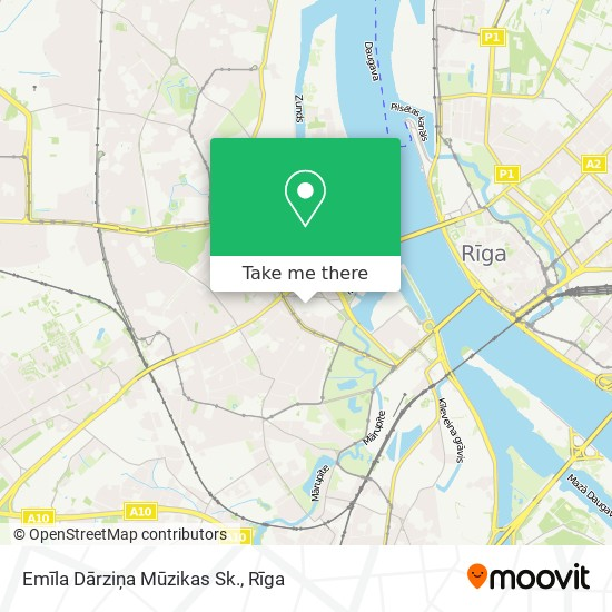 Emīla Dārziņa Mūzikas Sk. map
