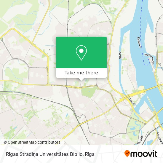 Rīgas Stradiņa Universitātes Biblio map