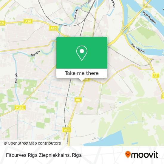 Fitcurves Riga Ziepniekkalns map