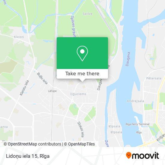 Lidoņu iela 15 map