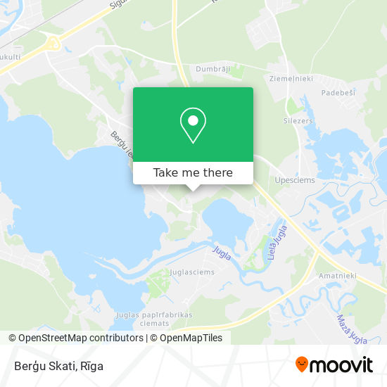 Berģu Skati map