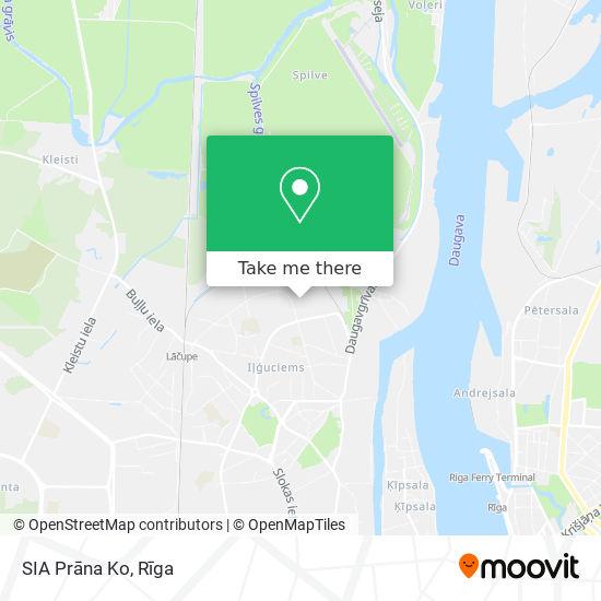 SIA Prāna Ko map