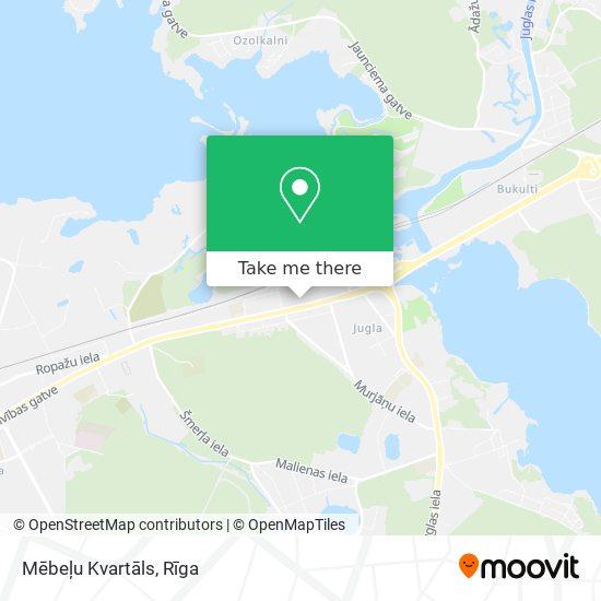 Mēbeļu Kvartāls map