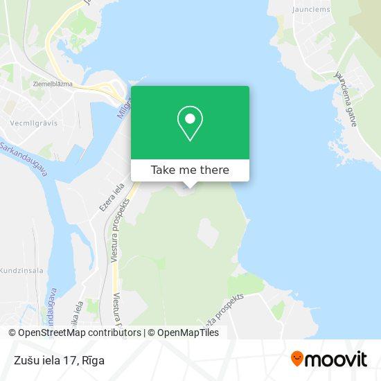 Zušu iela 17 map