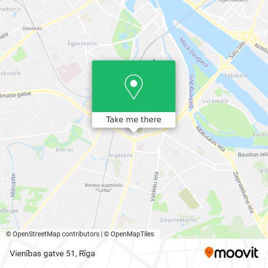 Vienības gatve 51 map